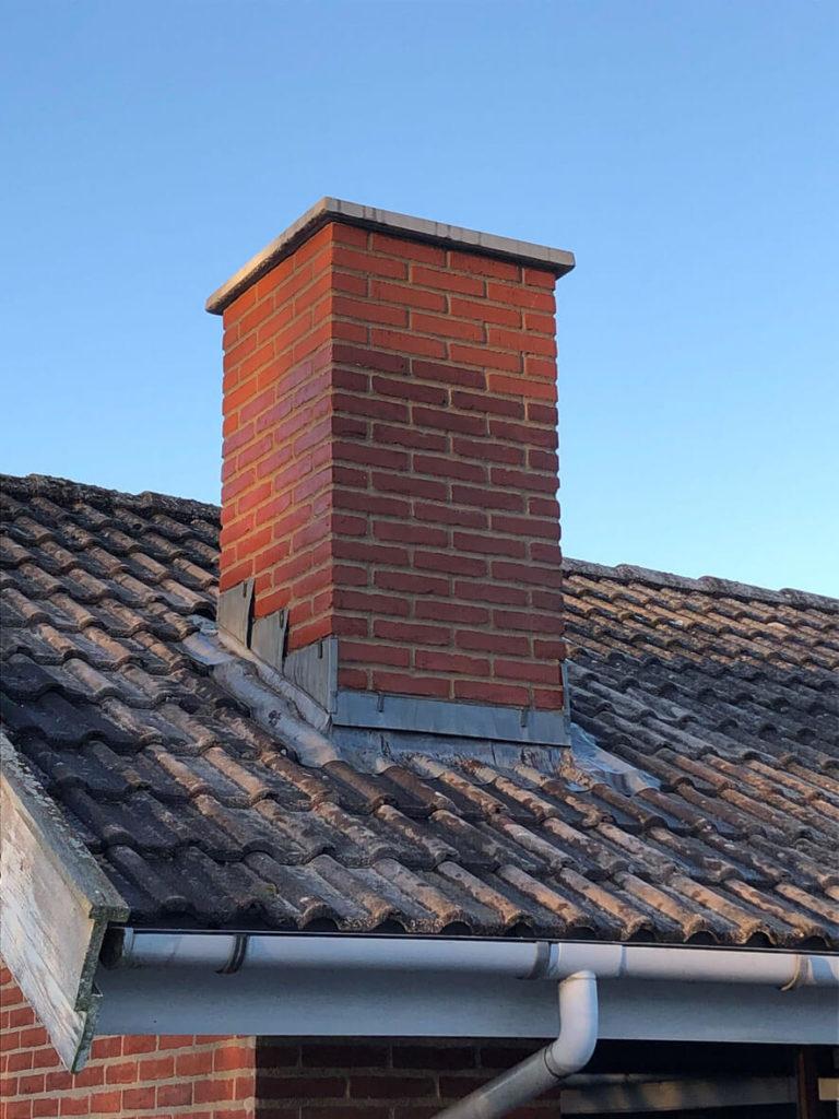 Reparation og om fugning af skorsten i Frederiksværk